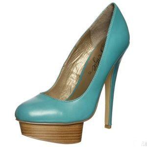 Fergie Olivia Wood Platform Heels